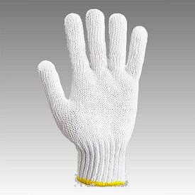 Рукавички робочі х/б біла без пвх покриття