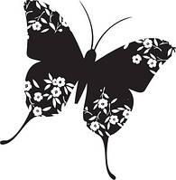 """Штамп резиновый на деревянном блоке """"Милая Бабочка"""" Hampton Art PS0057"""