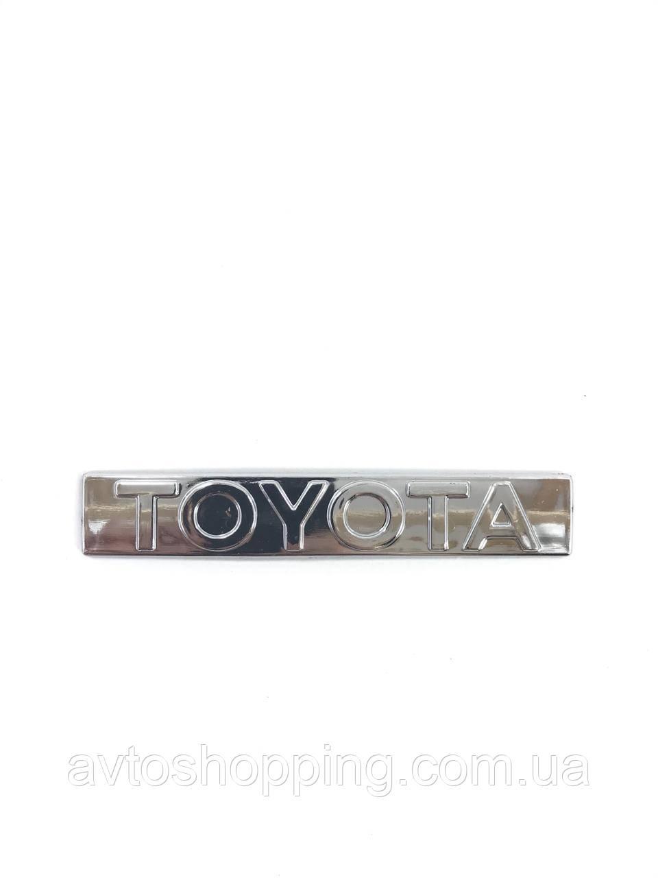 Значок емблема на багажник напис Тойота Toyota TOYOTA 11,5*2см