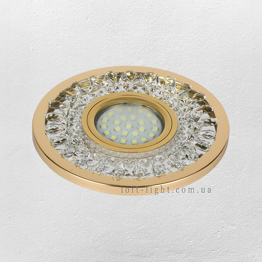 Точечный врезной светильник  16-MKD-C22 GD  (LED лента в комплекте )