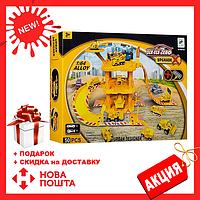 Детский многоуровневый трек пожарной техники S`n`S Toys 660-A31 | гараж для машинок | автотрек | паркинг