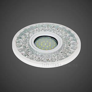 Точковий світильник врізний модель 16-MKD-C22 WH (LED стрічка в комплекті )