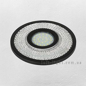 Точковий світильник врізний модель 16-MKD-C23 BK (LED стрічка в комплекті )