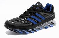 Мужские кроссовки Adidas Springblade (адидас спрингблейд) сине-черные
