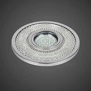Точковий світильник врізний модель 16-MKD-C23 CH (LED стрічка в комплекті )