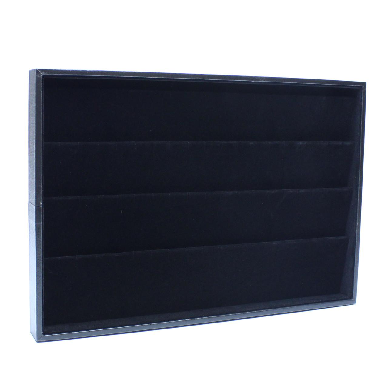 Планшет ювелирный «Под серьги и кулоны черная бархат 35 х 24 х 3 см»