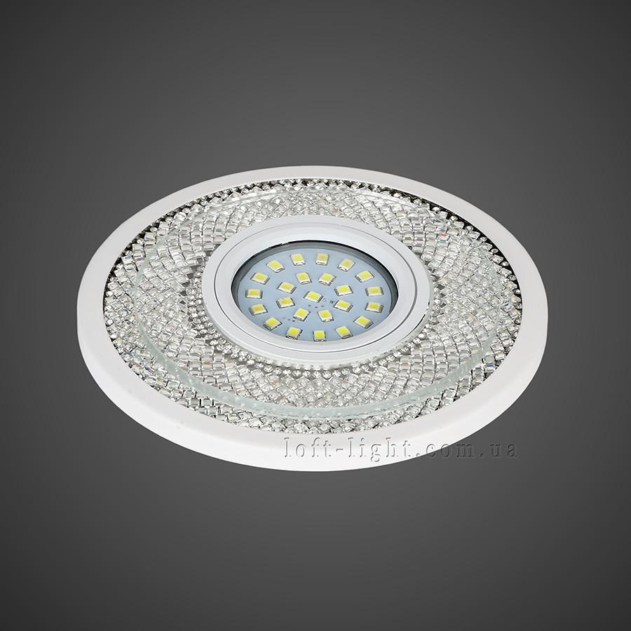 Точечный врезной светильник 16-MKD-C23 WH  (LED лента в комплекте )