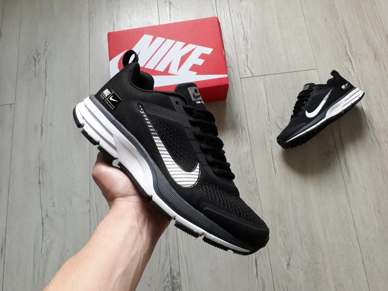0325ea44 Мужские кроссовки Nike Air Zoom Pegasus 29 Black White черные с белым  эксклюзив 2019 - sinitsa_shop