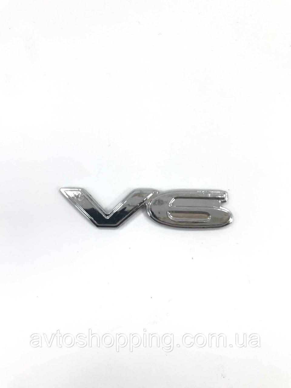 Значок эмблема на багажник надпись Двигатель V6