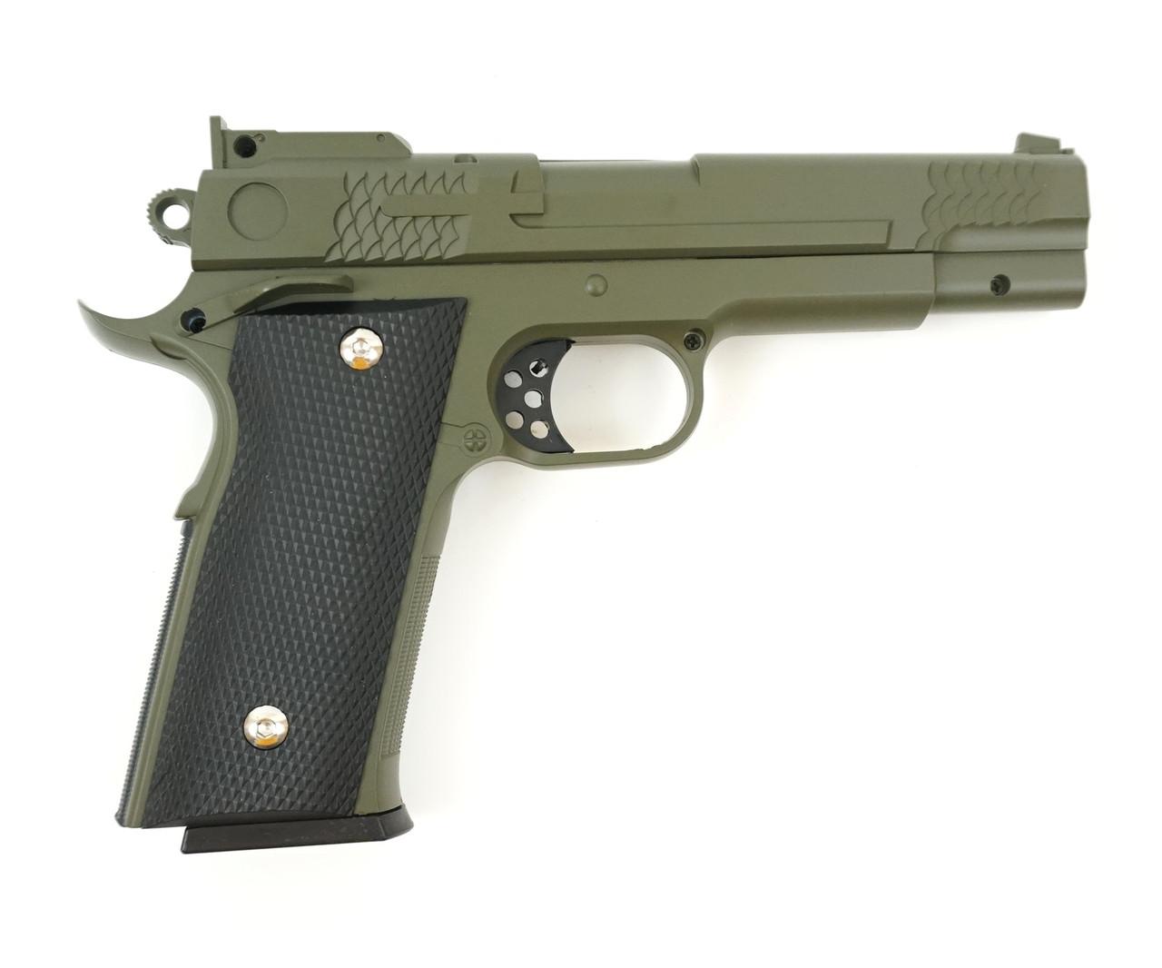 Страйкбольный пістолет Galaxy G20G (Browning HP) зелений