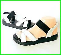 Женские Сандалии Босоножки Белые Резинка Летняя Обувь (размеры: 36,37,38,39,40,41)