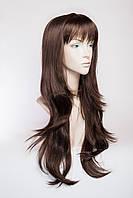 Длинный ровный парик №2,цвет молочный шоколад