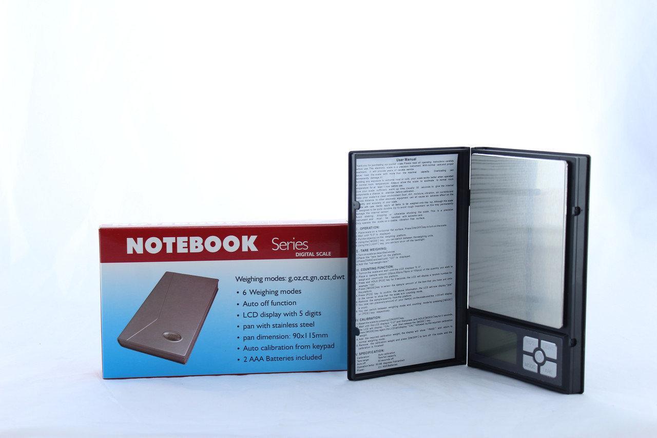 Ювелирные электронные весы книжка Notebook 1108-2 0.1 до 2000g