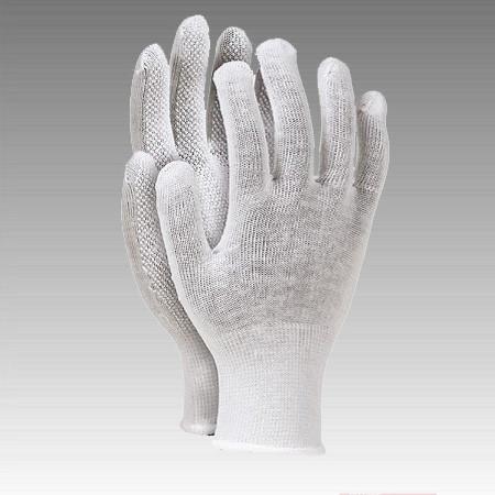 """Перчатки рабочие нейлон , белая с микроточкой пвх """"RMICRONCOT"""" (Reis) польша"""