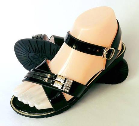 Жіночі Сандалі Босоніжки Літнє Взуття Чорні (розміри: 38), фото 3