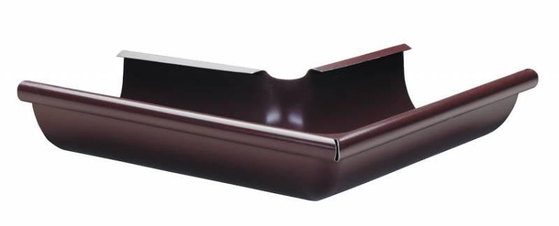 Угол внешний/внутренний 90 гр. желоб d=100 мм, труба d=90 мм (белый коричневый красный) - ООО «ПОЛИИМПЕКС» в Харькове