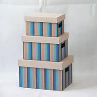 "Декоративная коробка с крышкой Handy Home ""Мульти полоски"" FB06-L"