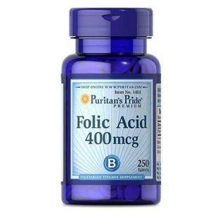 Фолиевая кислота, Puritan's Pride Folic Acid 400 mcg 250 tabs