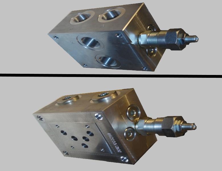 Плита переходная с клапаном гидрораспределителя Ду10мм (ВЕ10, РХ10, 1РЕ10, 4WE10) Oleoweb BS5C2