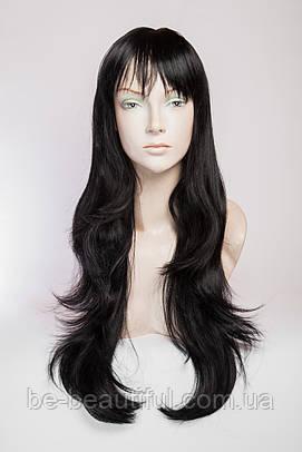 Длинный ровный парик №2,цвет черный