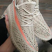 копия Adidas yeezy boost Sply 350 бежевые серые Адидас Кроссовки носки с полосой 36-41, фото 2