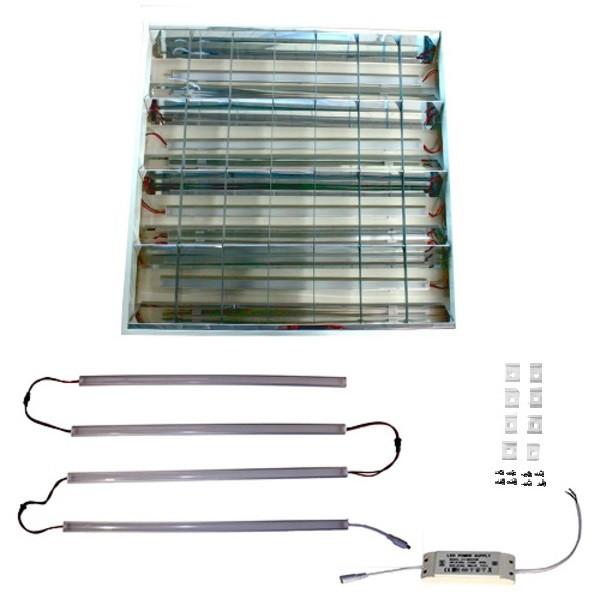 Светодиодный комплект КІТ 40Вт 4400Лм 4500К для переоборудования светильника ЛВО 4х18 и ЛПП 2х58