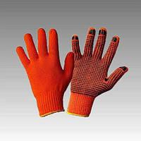 Перчатки рабочие х/б оранжевая с пвх покрытием