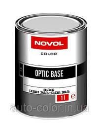 Автоэмаль металлик Novol OPTIC BASE DEEP BLACK 9 (Черная база) 1л