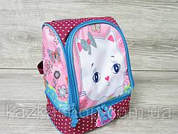 """Маленький детский рюкзак для дошколят, на два отдела, термоткань, мягкие лямки, """"Кошечка"""", фото 3"""