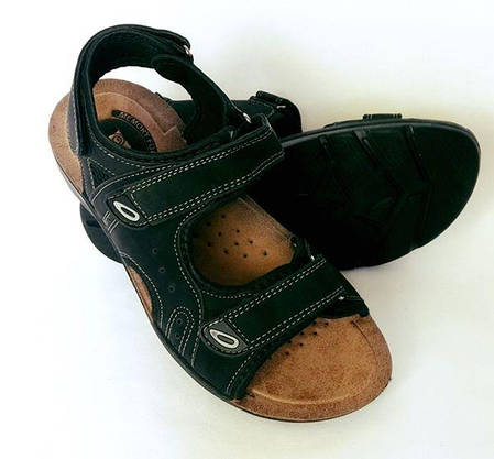 Мужские Сандалии Босоножки Чёрные Шлёпанцы (размеры: 40), фото 3