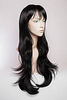 Длинный ровный парик №2,цвет черны