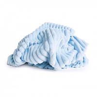 Плюш Minky stripes небесно-голубой