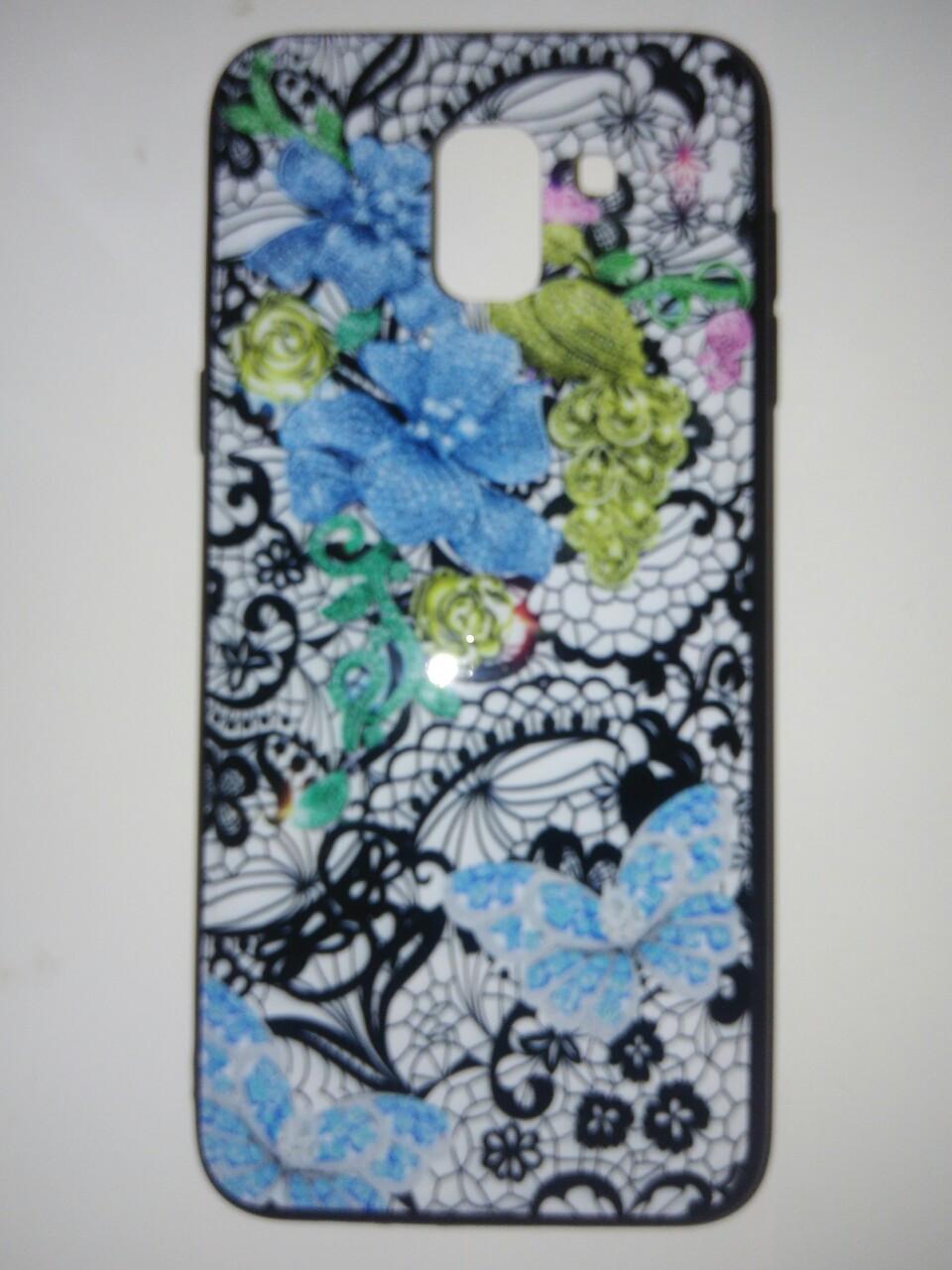 Накладка с рисунком   Guipure Desing для Samsung J6  2018 / J600