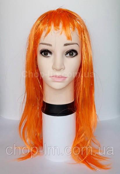Парик оранжевый, прямой