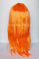 Парик оранжевый, прямой, фото 3