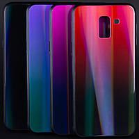 TPU+Glass чехол Gradient Aurora для Samsung J600F Galaxy J6 (2018)