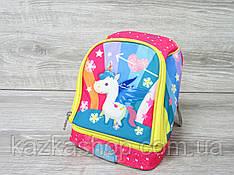 """Маленький детский рюкзак для дошколят, на два отдела, термоткань, мягкие лямки, """"Единорог"""""""