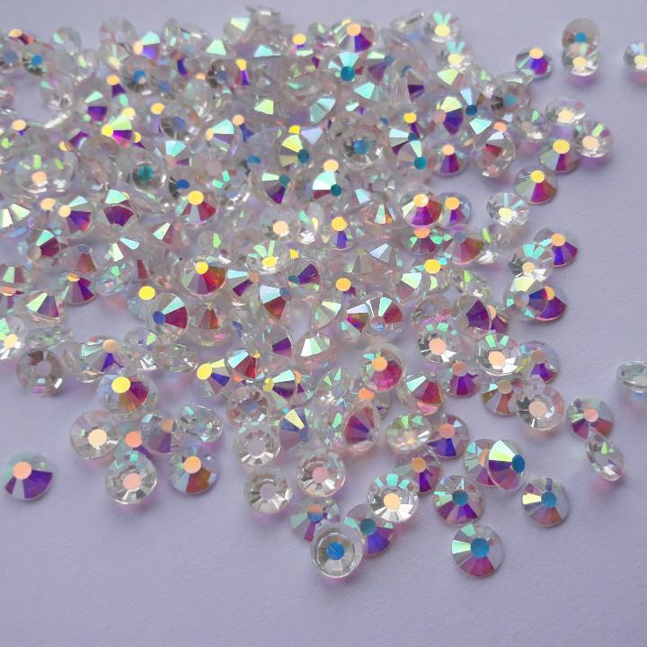 "Стразы ss16 Transparent AB (4,0мм) 100шт ""Crystal Premium"""