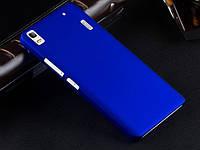 Пластиковый чехол для Lenovo A7000 синий, фото 1