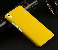 Пластиковый чехол для Lenovo A7000 жёлтый, фото 1