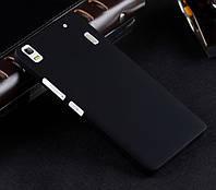 Пластиковый чехол для Lenovo A7000 чёрный, фото 1