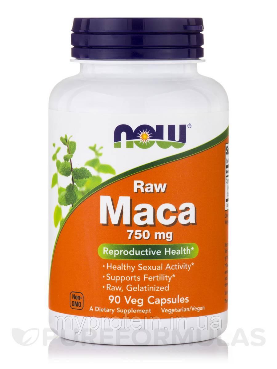 NOW стимуляция половой функции Мака перуанская Maca 750 mg raw90 veg caps