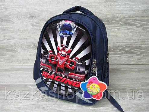 """Детский рюкзак для школьников 1-3 класов, на два отдела, 3D оформление на лицевой части """"Формула 1"""", фото 2"""