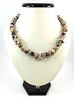 Эксклюзивное ожерелье Родонит, Изысканное ожерелье из натурального камня, красивые украшения