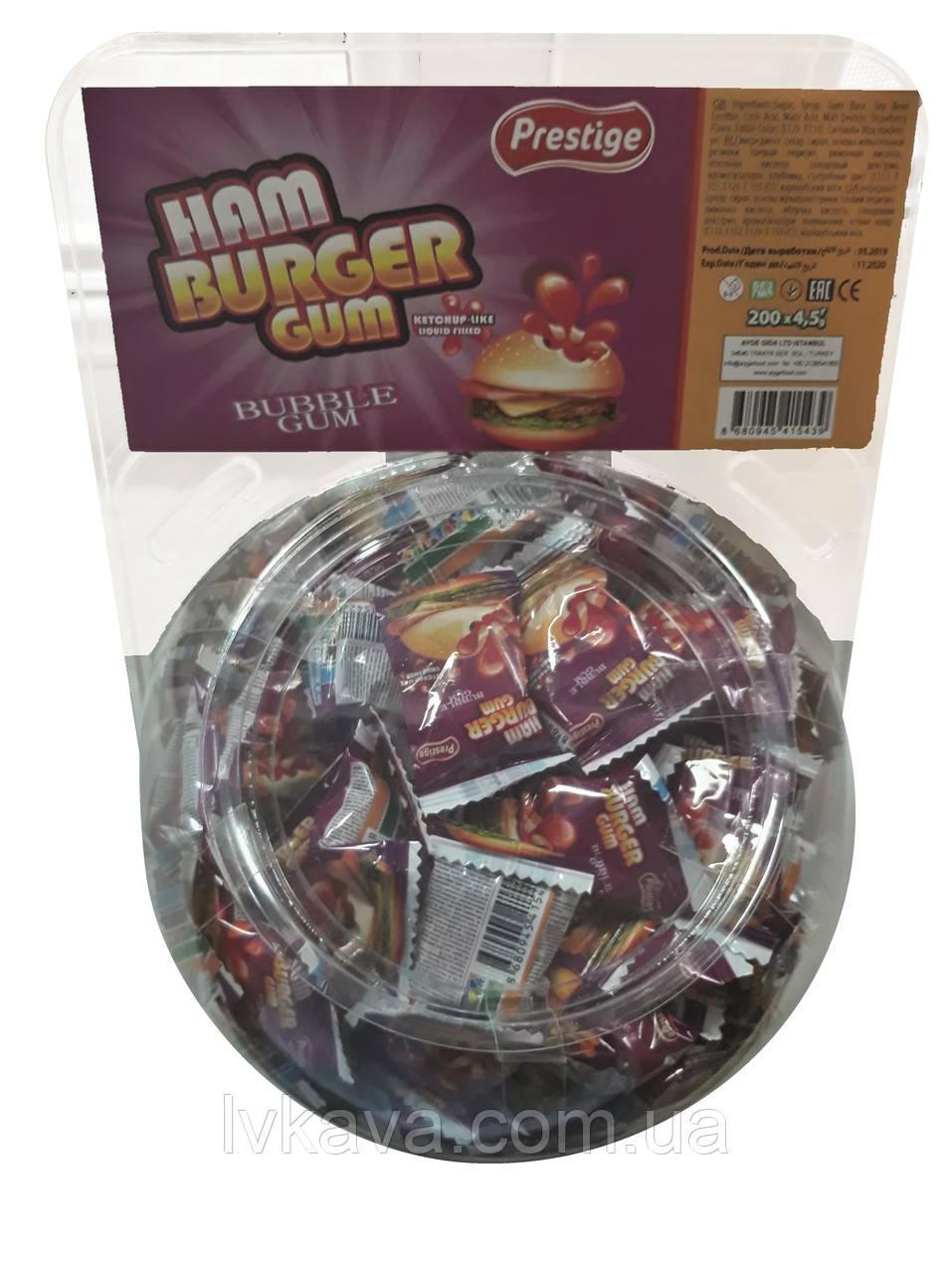 Жевательная резинка Hamburger Gum  Prestige , 4,5  гр х 200 шт