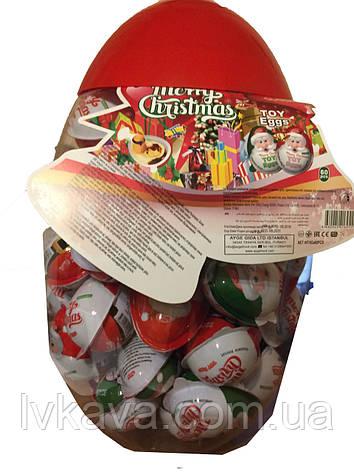 Новогодний набор Яйцо-игрушка Merry Christmas c печеньем в глазури, 8 g X 60 шт, фото 2