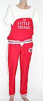 Женский прогулочный, спортивный костюм, красный с белым, Турция, фото 1