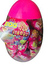 Набор Яйцо-игрушка Barbie c печеньем в глазури, 8 g X 60 шт