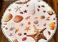 Пляжные полотенца-подстилки с морским принтом (диаметр 150 см)