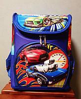 """Школьный рюкзак ортопедический каркасный для мальчика """"Гоночный автомобиль"""""""